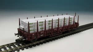 11272-B Holz Stapel in Folie 8St 13x113x5 mm